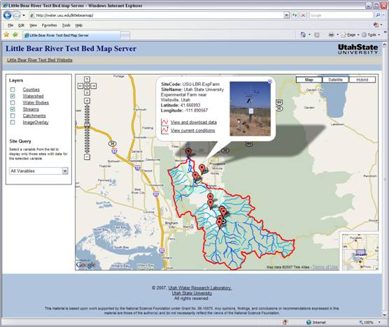 Creation of a Google Maps Interface for Publishing Hydrologic